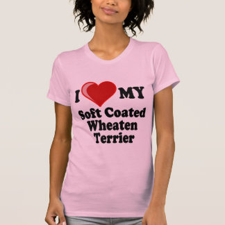 I Love (Heart) My Soft Coated Wheaten Terrier Dog T-Shirt