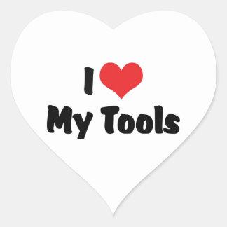 I Love Heart My Tools - Handyman Craftsman Builder Heart Sticker