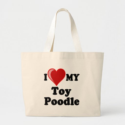 I Love (Heart) My Toy Poodle Dog Bags