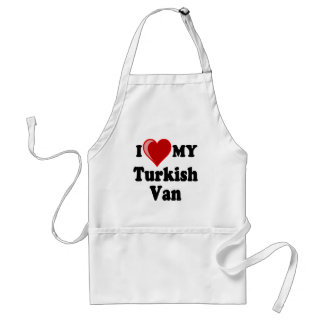 I Love (Heart) My Turkish Van Cat Standard Apron