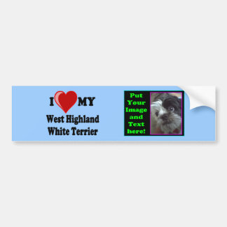 I Love (Heart) My West Highland White Terrier Dog Bumper Sticker