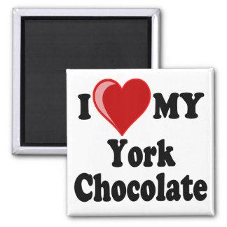 I Love (Heart) My York Chocolate Cat Magnet