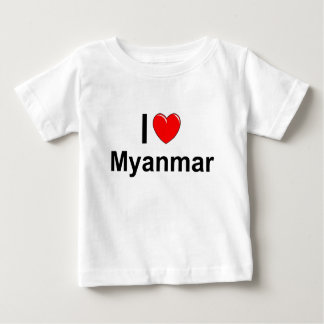 I Love Heart Myanmar Baby T-Shirt