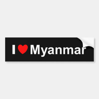I Love Heart Myanmar Bumper Sticker