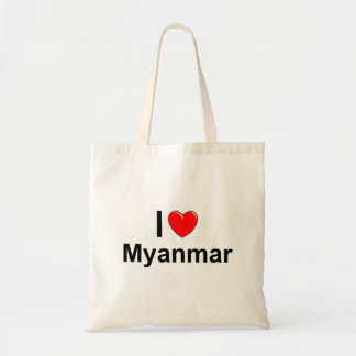 I Love Heart Myanmar Tote Bag