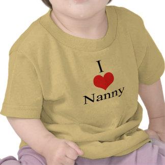 I Love Heart Nanny Tee Shirts