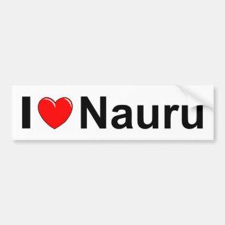 I Love Heart Nauru Bumper Sticker