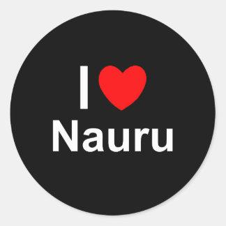 I Love Heart Nauru Classic Round Sticker