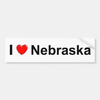 I Love (Heart) Nebraska Bumper Sticker