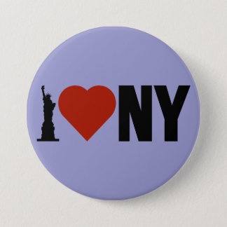 I Love Heart New York 3 Inch Round Button
