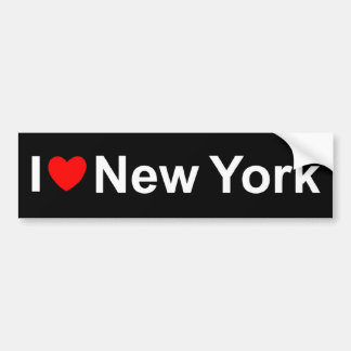 I Love Heart) New York Bumper Sticker