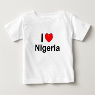 I Love Heart Nigeria Baby T-Shirt