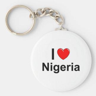 I Love Heart Nigeria Keychain