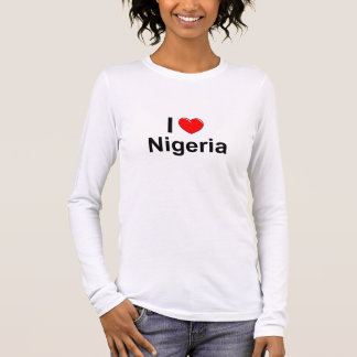 I Love Heart Nigeria Long Sleeve T-Shirt