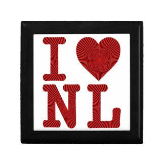 I LOVE HEART NL NEWFOUNDLAND AND LABRADOR JEWELRY BOX
