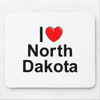 I Love (Heart) North Dakota Mouse Pad