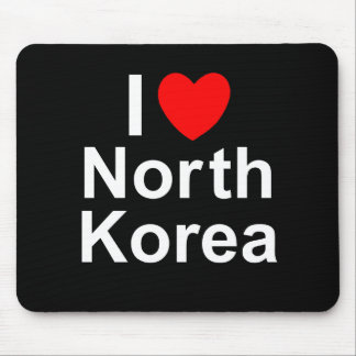 I Love Heart North Korea Mouse Pad