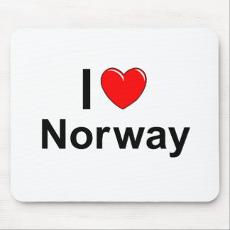 I Love Heart Norway Mouse Pad