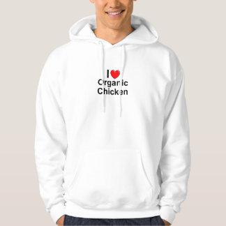 I Love Heart Organic Chicken Hoodie