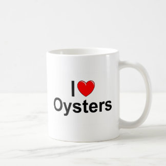 I Love (Heart) Oysters Coffee Mug