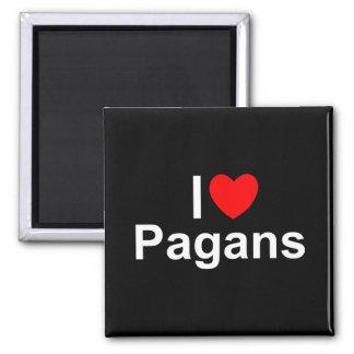 I Love (Heart) Pagans Magnet