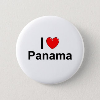 I Love Heart Panama 2 Inch Round Button