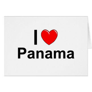 I Love Heart Panama Card