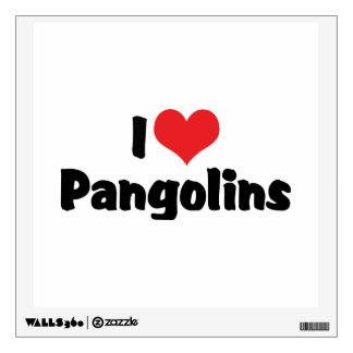 I Love Heart Pangolins - Pangolin Lover Wall Sticker