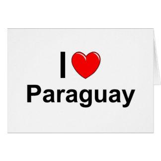 I Love Heart Paraguay Card