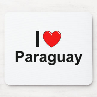 I Love Heart Paraguay Mouse Pad