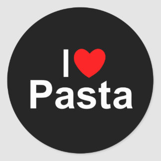 I Love (Heart) Pasta Classic Round Sticker