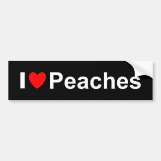 I Love Heart Peaches Bumper Sticker