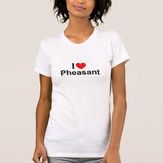 I Love Heart Pheasant T-Shirt
