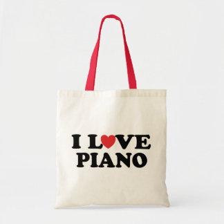 I Love Heart Piano Music Gifts Tote Bag
