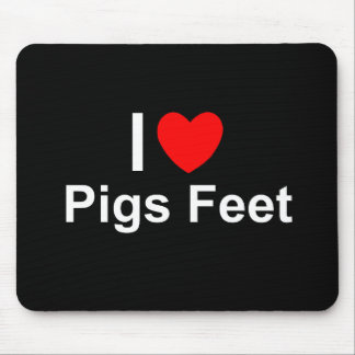 I Love Heart Pigs Feet Mouse Pad