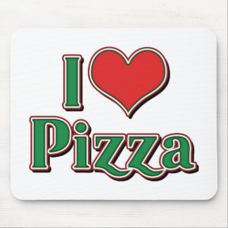 I Love Heart Pizza Mouse Pad