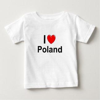 I Love Heart Poland Baby T-Shirt
