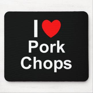 I Love Heart Pork Chops Mouse Pad