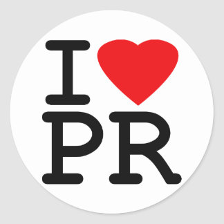 I Love Heart Puerto Rico Classic Round Sticker