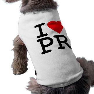 I Love Heart Puerto Rico Pet Shirt