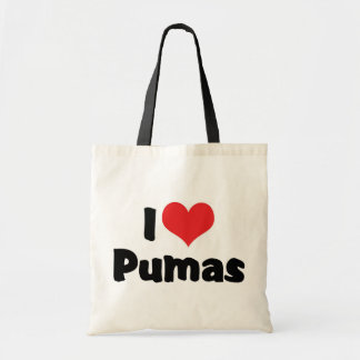 I Love Heart Pumas Tote Bag