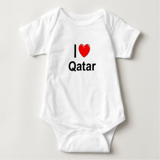 I Love Heart Qatar Baby Bodysuit