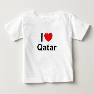 I Love Heart Qatar Baby T-Shirt