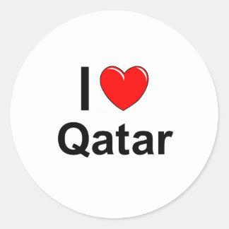 I Love Heart Qatar Classic Round Sticker