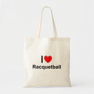 I Love Heart Racquetball Tote Bag
