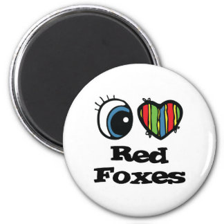 I Love (Heart) Red Foxes Magnet
