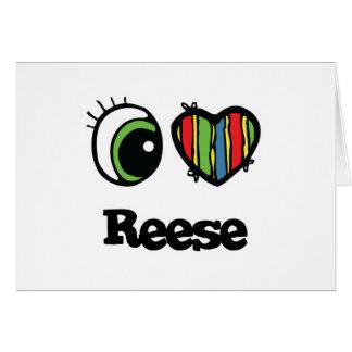 I Love (Heart) Reese Greeting Card