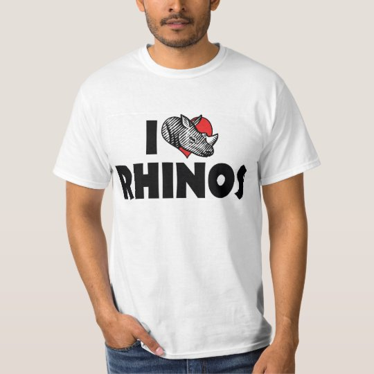 I Love Heart Rhinos - Rhinoceros Lover T-Shirt