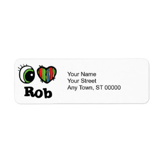 I Love (Heart) Rob Return Address Label