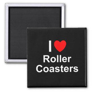 I Love Heart Roller Coasters Magnet